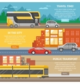 Transport For City And Travel Banners vector image vector image