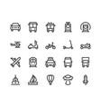 transport line icon minimal vector image vector image
