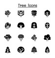tree icon set graphic design vector image