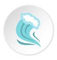 tsunami icon circle vector image vector image