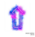 watercolor magic fire arrow with neon counter vector image vector image