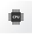 cpu icon symbol premium quality isolated vector image