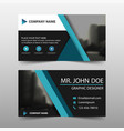 blue triangle corporate business card name card vector image