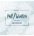 Fall Winter sale poster with leaves background vector image