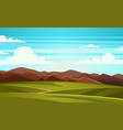 summer landscape mountain vector image