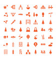 49 tree icons vector image vector image