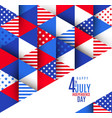 4th july independence day design vector image vector image