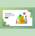 accounting concept with tiny people character vector image vector image