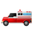 an ambulance on a white background vector image vector image