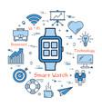 blue smart watch concept vector image