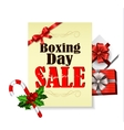 Boxing day with holly vector image
