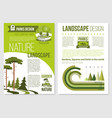 brochure for nature landscape design vector image vector image