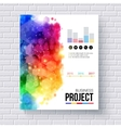 Business Project Template for Web or Mobile vector image vector image