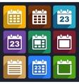 Calendar flat icons set 21 vector image