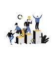 career ladder a businessman vector image