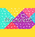 carnival lettering design calligraphic typography vector image vector image