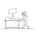 cartoon medic medical staff or paramedic vector image