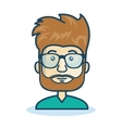 character man bearded hipster isolated vector image