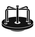 Children merry go round icon simple style vector image vector image