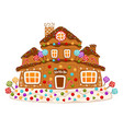 christmas gingerbread cookie house constructor vector image vector image