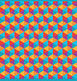 color polygon pattern vector image