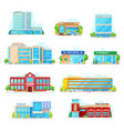 commercial and municipal city buildings icons vector image vector image