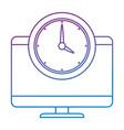 computer desktop with watch vector image vector image