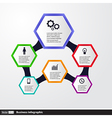 Conceptual Design template infographics elements vector image vector image