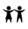 couple silhouette isolated icon vector image vector image