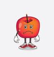 crab apple cartoon mascot character having vector image vector image