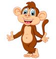 cute monkey cartoon vector image