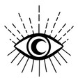 eyes esoteric art yoga logo vector image