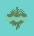 flat icon on stylish background melting glacier vector image vector image