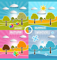 Four Seasons Landscape Backgrounds vector image vector image
