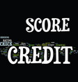 free credit score check text background word vector image vector image