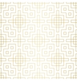 Golden abstract geometric pattern with rhombus and vector image vector image
