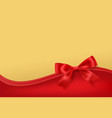 golden stary background with red bow decoration vector image