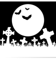 Halloween card with cemetery vector image