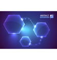 hexagon system futuristic background vector image vector image