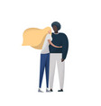 interracial couple mixed race vector image