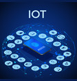 iot isometric concept digital global ecosystem vector image