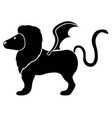 isolated manticore icon vector image vector image