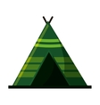 Isolated tent for camping design vector image vector image