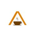 letter a coffee shop logo icon vector image