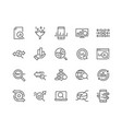 line data analysis icons vector image