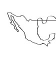 map of mexico continous line vector image