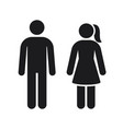 men women sign toilet silhouette symbol vector image