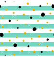 mint gold striped seamless pattern vector image vector image