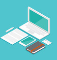 mockup isometric set laptop vector image vector image