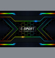modern realistic overlapped layer e-sports style vector image vector image